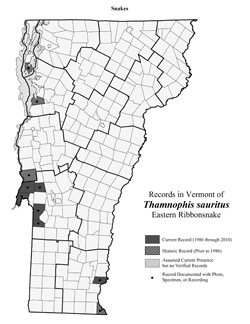 Distribution of T. sauritus in Vermont