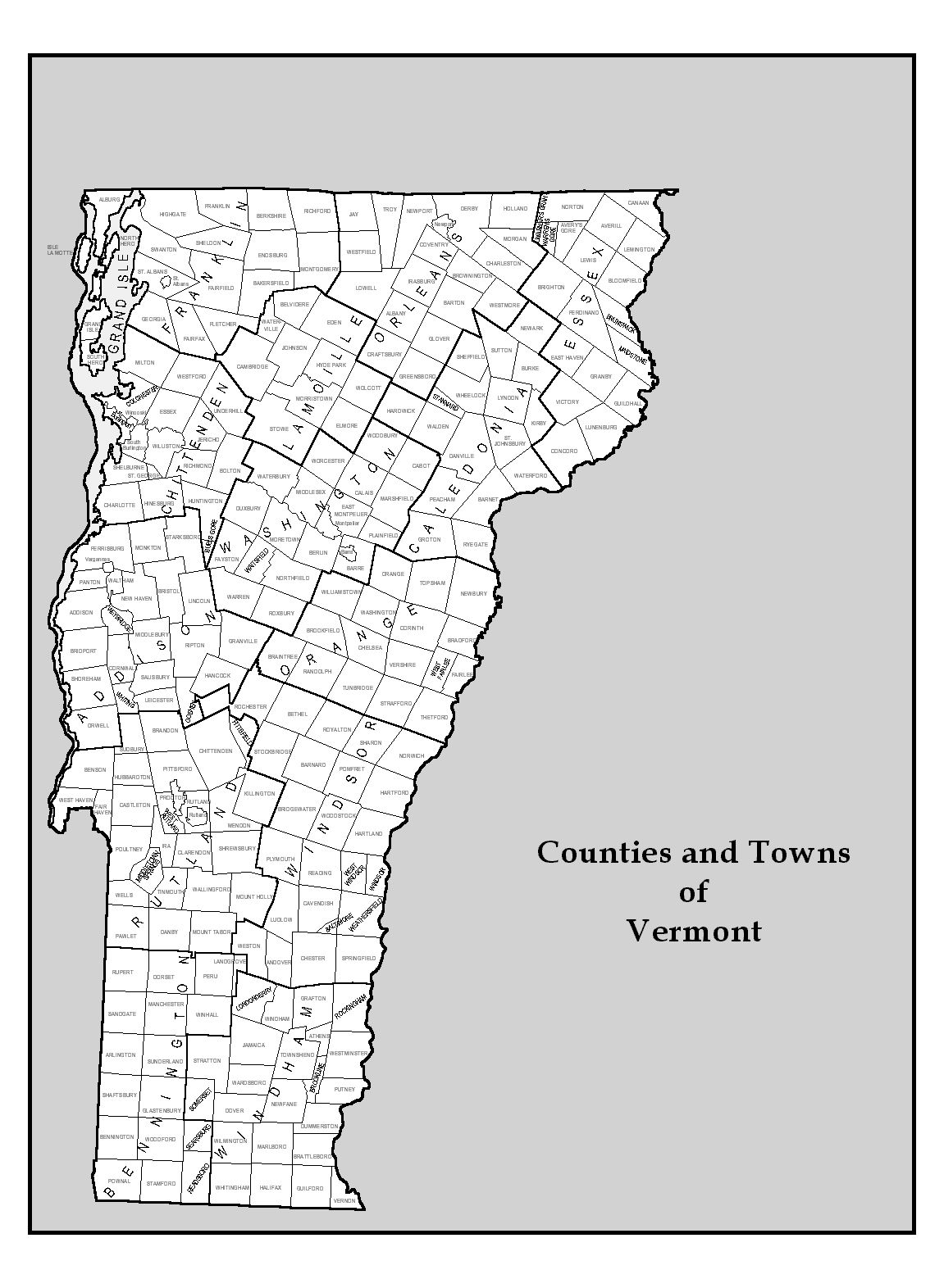 vermont map by town bnhspinecom